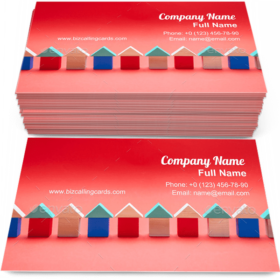 Real estate and village Business Card Template