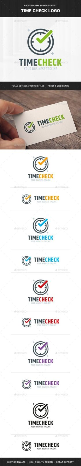 Realistic metallic stopwatch Logo Template for Your stadium training Business Card