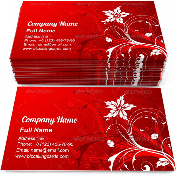 Sample of Red Floral bud Business calling card design for advertisements marketing ideas and promote flourishes branding identity