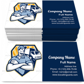Removal Man Delivery Business Card Template
