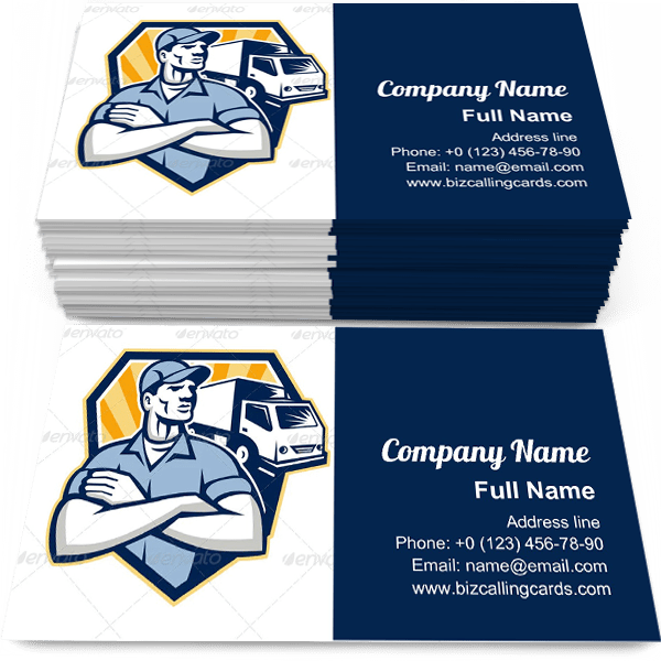 Sample of Removal Man Delivery business card design for advertisements marketing ideas and promote transportation branding identity