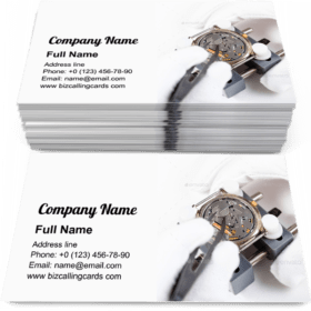 Replacing battery in wristwatch Business Card Template