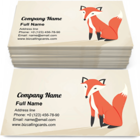 Retro Fox Business Card Template