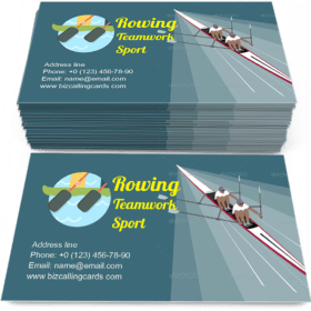 Rowing Teamwork Sport Business Card Template