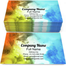 Acrylic colors in water Business Card Template