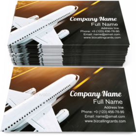 Airplane on the Airport Business Card Template