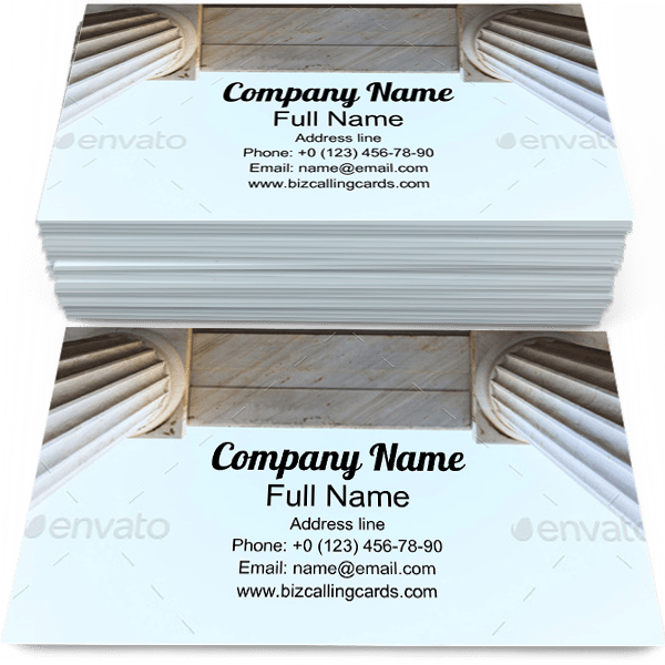 Sample of Arcade Ceiling business card design for advertisements marketing ideas and promote Ancient branding identity
