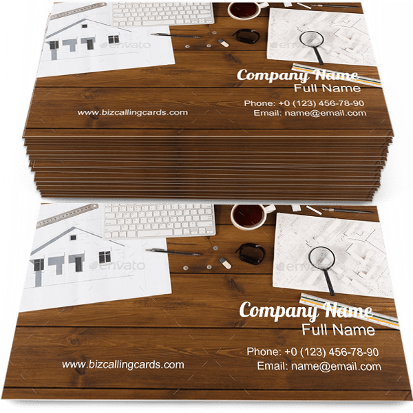 Sample of Blueprint business card design for advertisements marketing ideas and promote Architectural branding identity