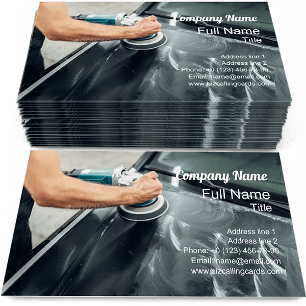 Sample of Carwash calling card design for advertisements marketing ideas and promote polishing branding identity