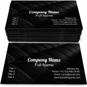 Automotive Tires Pattern Business Card Template