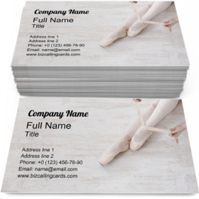 Ballerina Puts on Pointe Business Card Template