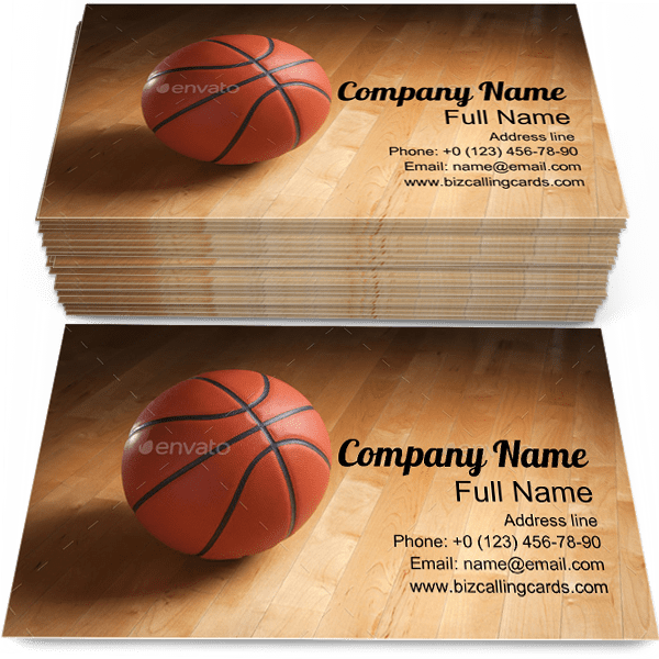 Free Basketball On Court Floor Business Card Template Maker