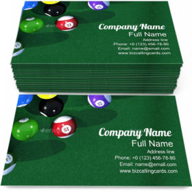 Billiard Game Cueball Business Card Template