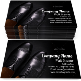 Black Oxford Shoes Business Card Template