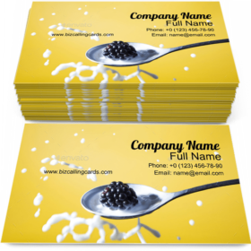 Blackberry and Milk Business Card Template