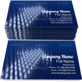 Blue Dots Arrow Motion Business Card Template