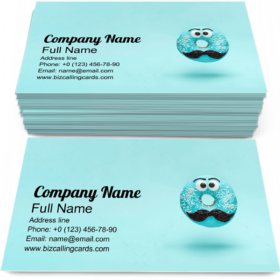 Blue Glazed Donut Business Card Template