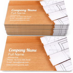Blueprints for Engineer Business Card Template