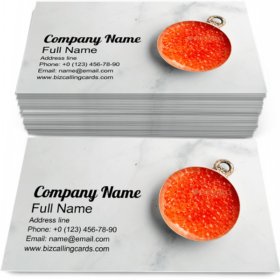Bowl of Red Caviar Business Card Template