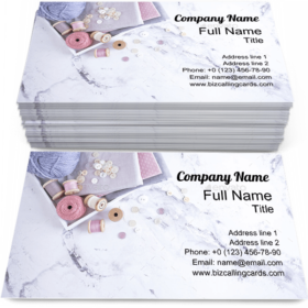 Box with Sewing Items Business Card Template
