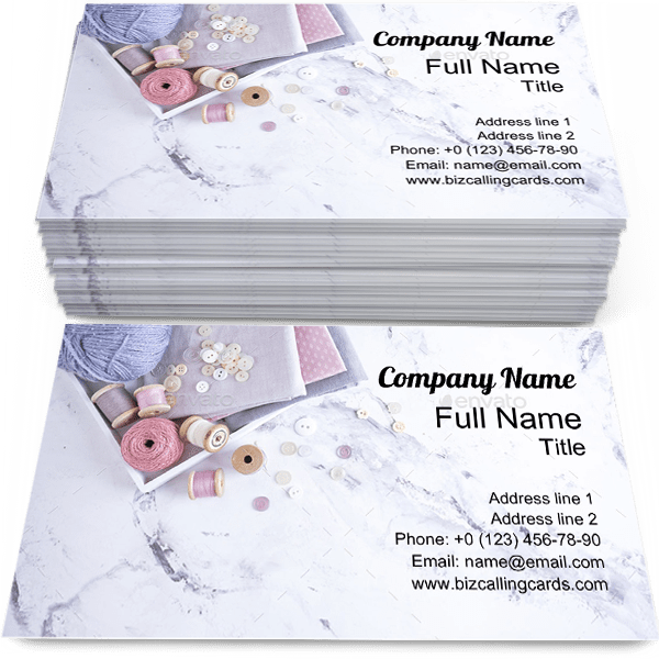Sample of Sewing calling card design for advertisements marketing ideas and promote handmade branding identity