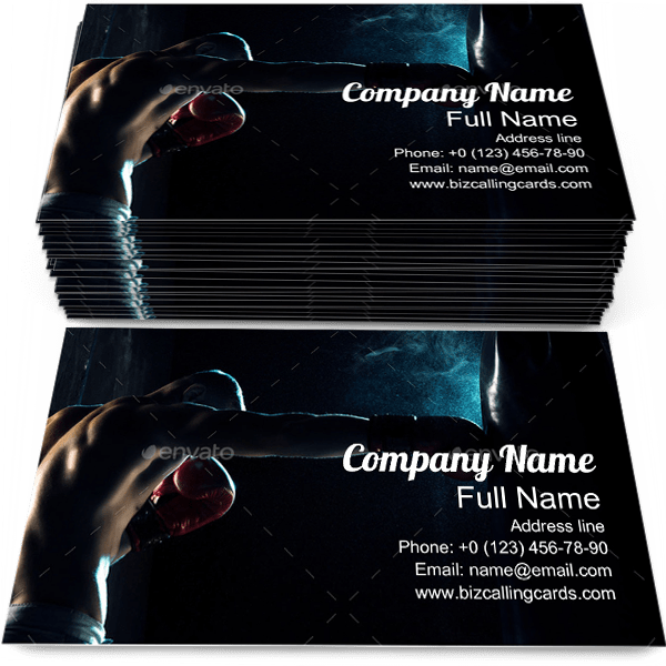 Boxing in Punching Bag Business Card Template