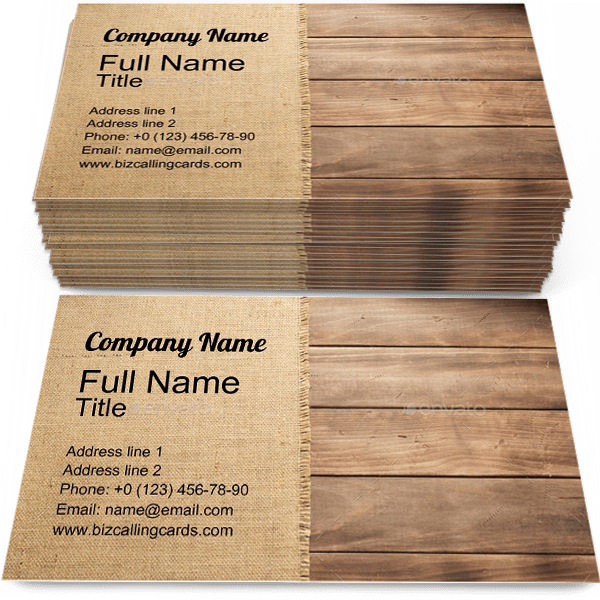 Example of Wooden background Business Card Template