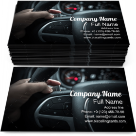 Car Driving with Paddle Business Card Template