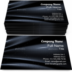 Carbone Fiber Backdrop Business Card Template