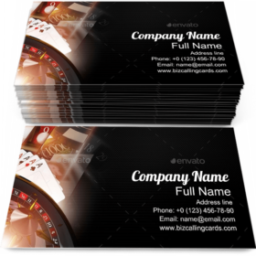 Casino Games Objects Business Card Template