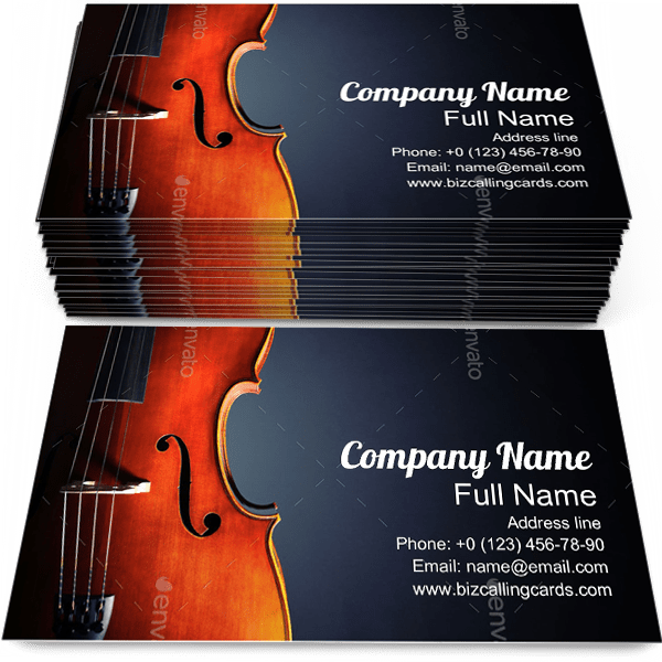 Create Online Cello For Clical Music Business Card Template
