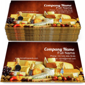 Cheese & Diary Products Business Card Template
