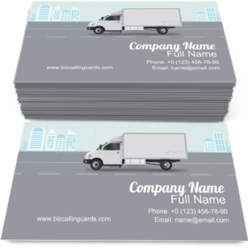 City Commercial Delivery Business Card Template