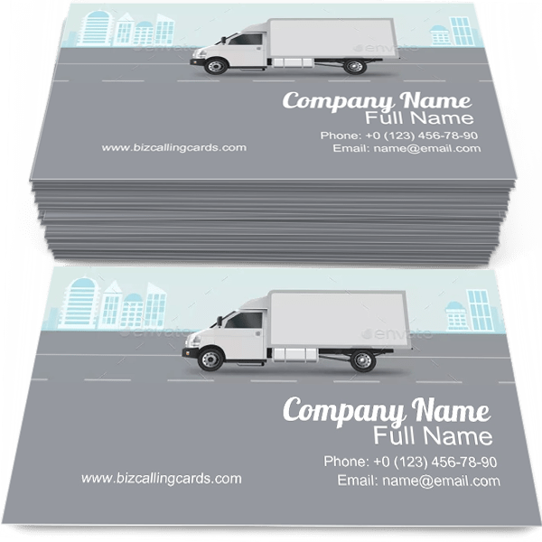 Sample of Commercial Delivery business card design for advertisements marketing ideas and promote Cargo City branding identity