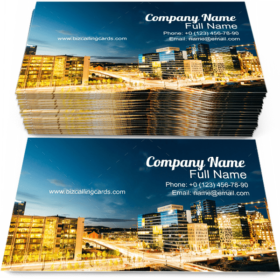 City in Illumination Business Card Template