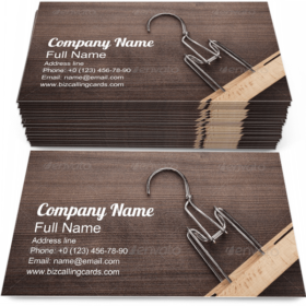 Clothe Hanger on Table Business Card Template