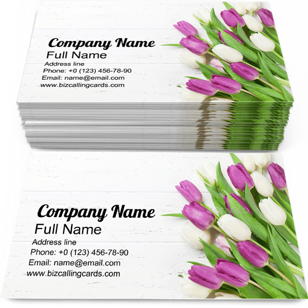 Sample of Bouquet calling card design for advertisements marketing ideas and promote Flower branding identity