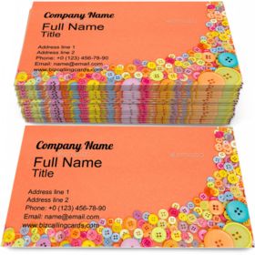 Colourful Buttons Business Card Template