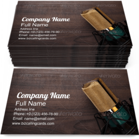 Condensing Microphone Business Card Template