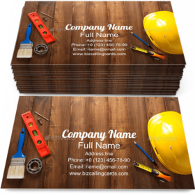 Construction Repair Tools Business Card Template