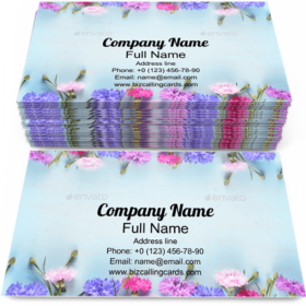 Cornflowers on Blue Business Card Template
