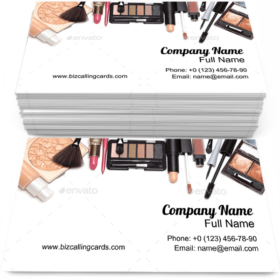 Cosmetics for Makeup Business Card Template