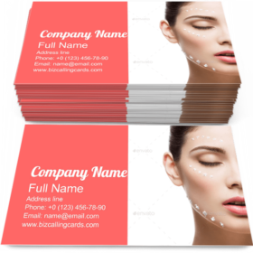 Cream Dots on Face Business Card Template