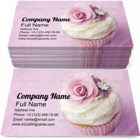 Cup Cake Decorated Business Card Template
