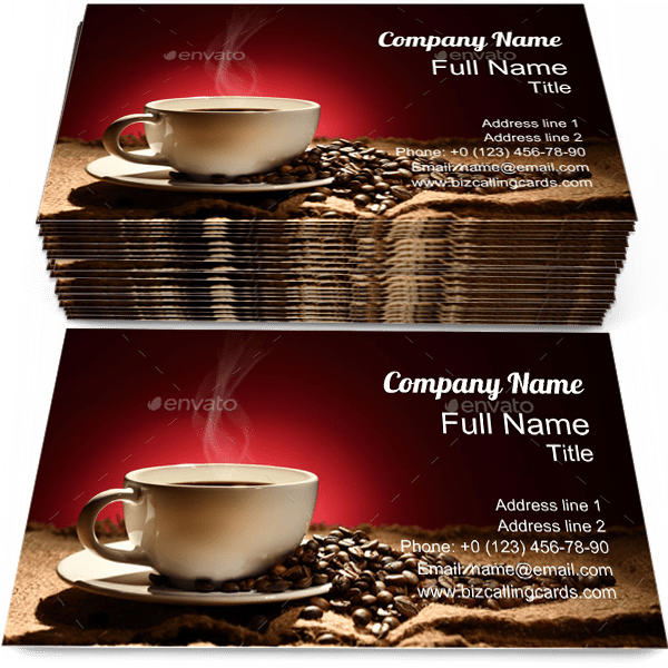 Sample of Coffee with Smoke calling card design for advertisements marketing ideas and promote beans branding identity