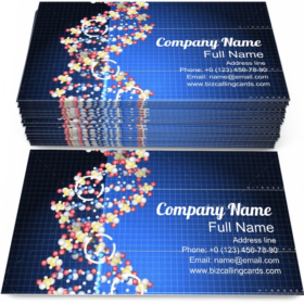 DNA Helix Molecules Business Card Template
