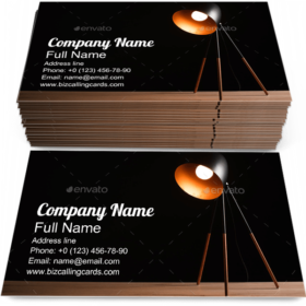 Desk Lamp on Table Business Card Template
