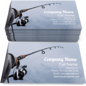 Detail of a Fishing Rod Business Card Template
