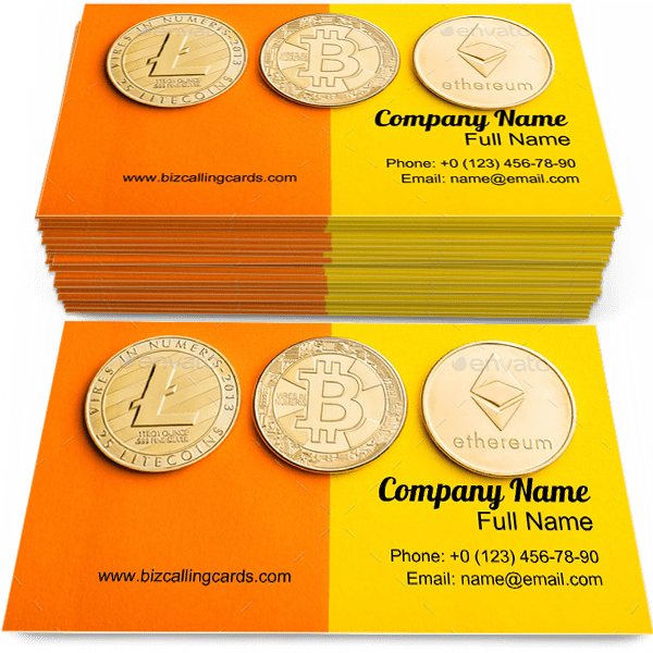 Digital Cryptocurrencies Business Card Template