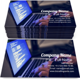 Diverse Cyber Attack Business Card Template